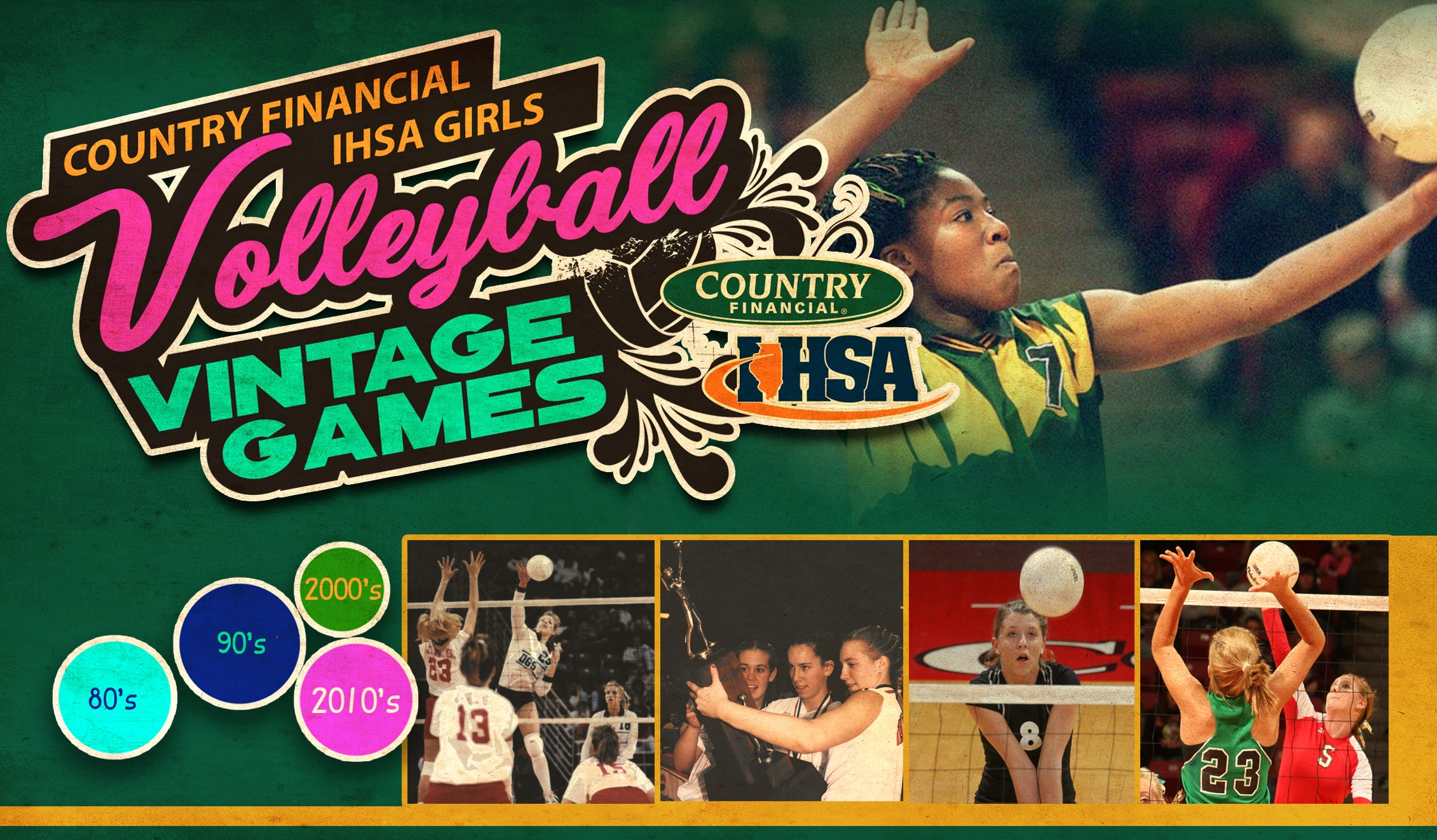 Vote On The Greatest Ihsa Girls Volleyball Matches Via The Country Financial Vintage Games Series