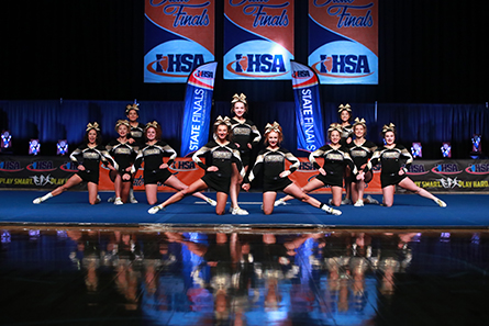 Compeive Cheerleading | IHSA Sports & Activities on science map, baseball map, hip hop map, hiking map, curling map, cross country map, basketball map, diving map, triathlon map,