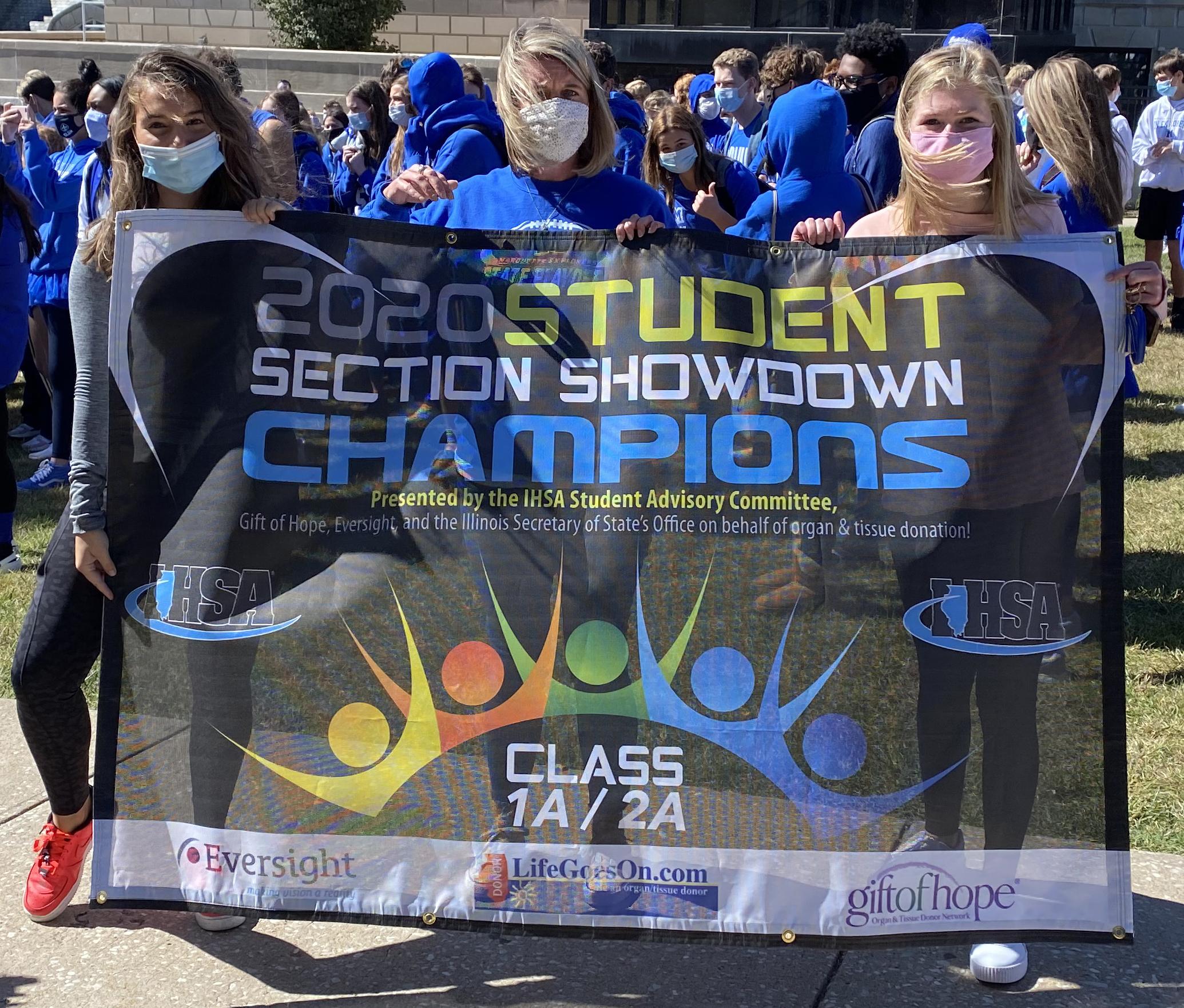 Alton Marquette Wins 2020 Ihsa Class 1a 2a Student Section Showdown