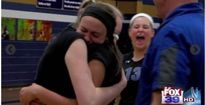 Genoa-Kingston Helps Rockford Christian Volleyball Player Serve Ace To Remember