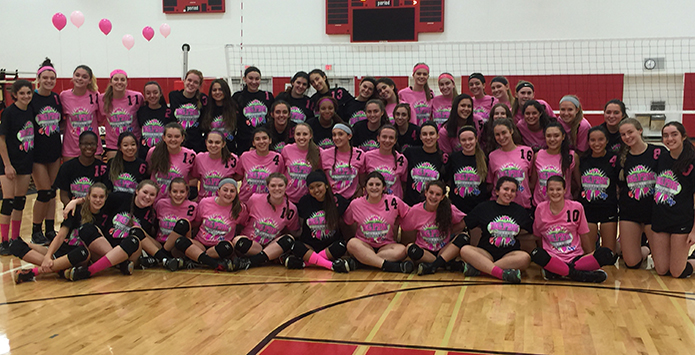 Illinois Volleyball Teams Dig Pink, Raise Over $15K For Cancer Research