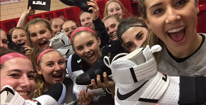 "LeBron James ""Comes Out of Nowhere"" To Gift Morton Potters Girls Basketball Team With Shoes"