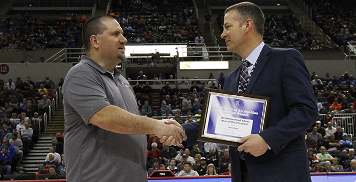 Monmouth-Roseville's Kevin Ferry Named Section Winner of NFHS Heart of the Arts Award
