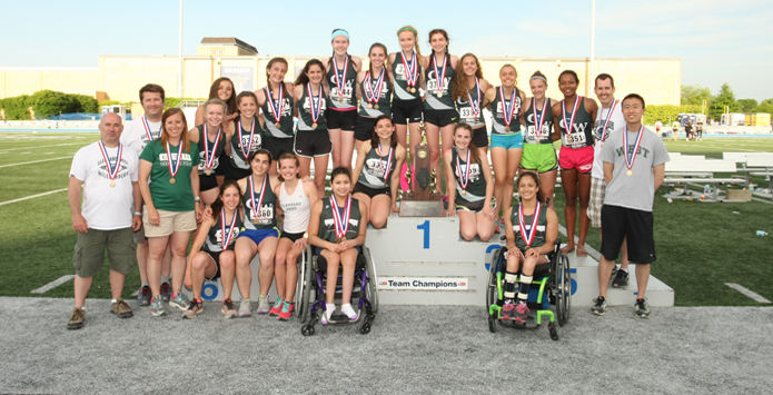 Glenbard West Girls Track & Field is First-Ever IHSA Combined State Champion
