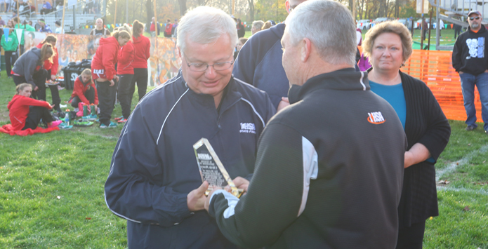 IHSA Honors Long-Time XC State Final Manager Chris Perry