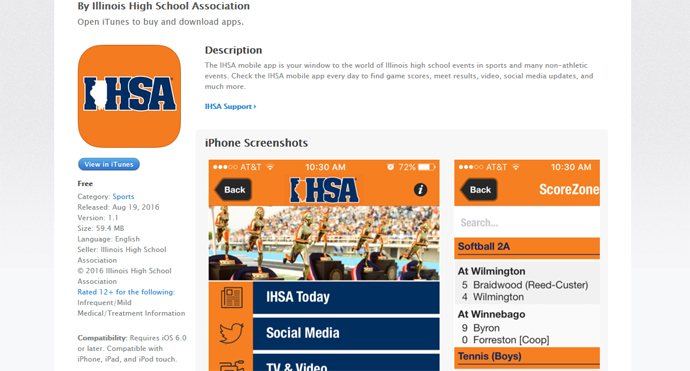 IHSA Launches Free Smartphone App On iTunes, Google/Android