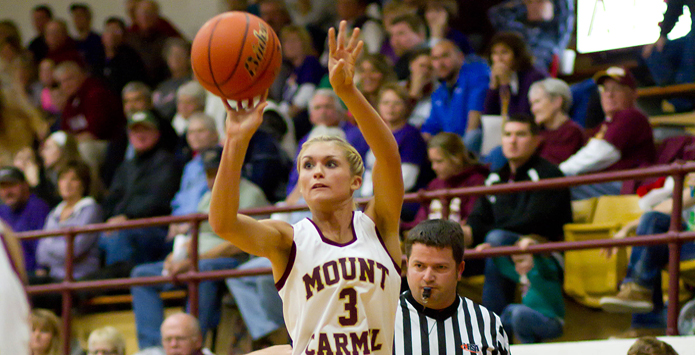 Mt. Carmel's Tyra Buss Sets State Career Scoring Record