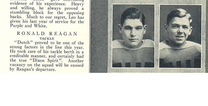 Ronald W. Reagan, Dixon High School Class of 1928