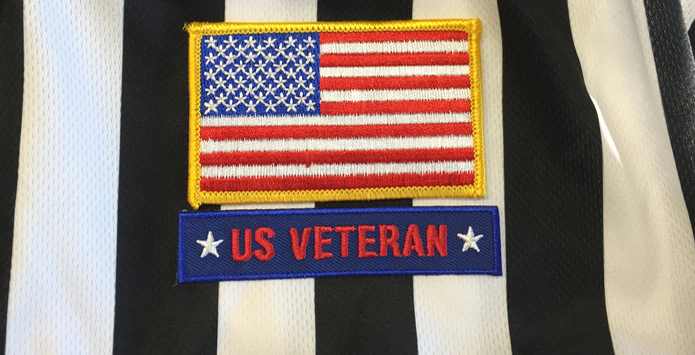 IHSA Recognizes Military Veteran Officials With Commemorative Patch, Waives License Fees