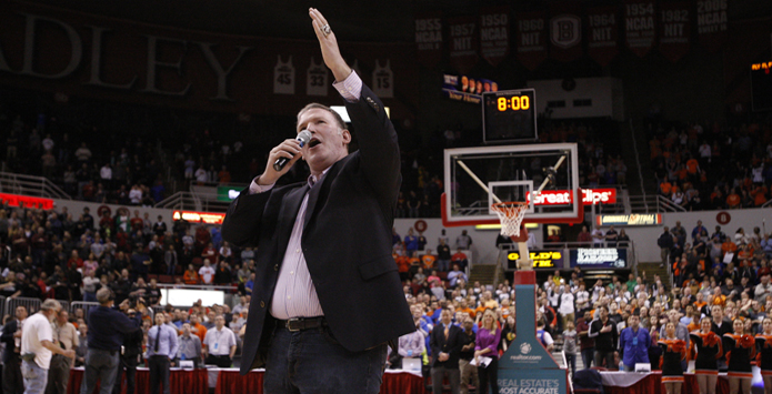 Jim Cornelison Sings National Anthem at 2015 IHSA Boys Basketball State Championship