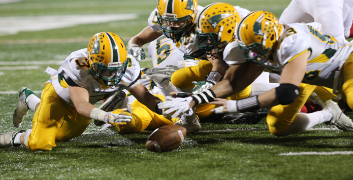 Stevenson Defense Forces Fumble to Clinch State Championship