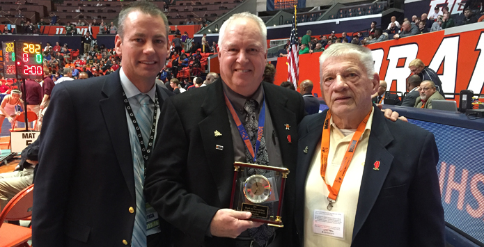 IHSA & IWCOA Honor Outgoing Wrestling State Final Manager Dr. Joseph Pedersen