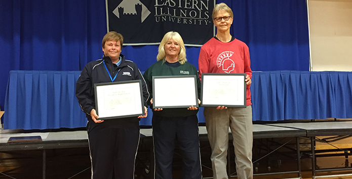 Three Legendary IHSA Badminton Coaches Honored at State Finals