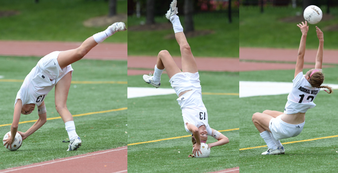 Normal West's Tess Marcordes Soccer Flip Throw