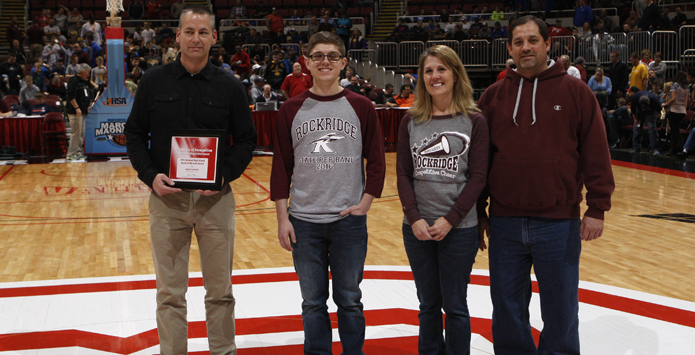 Rockridge's Gabe Stanforth Named Section Winner of NFHS Heart of the Arts Award