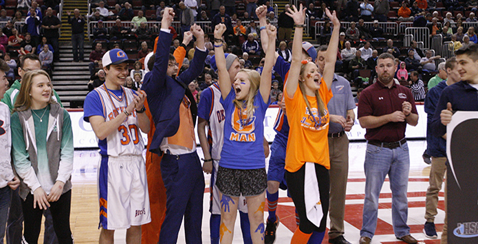 Okawville Wins IHSA Class 1A/2A Student Section Showdown