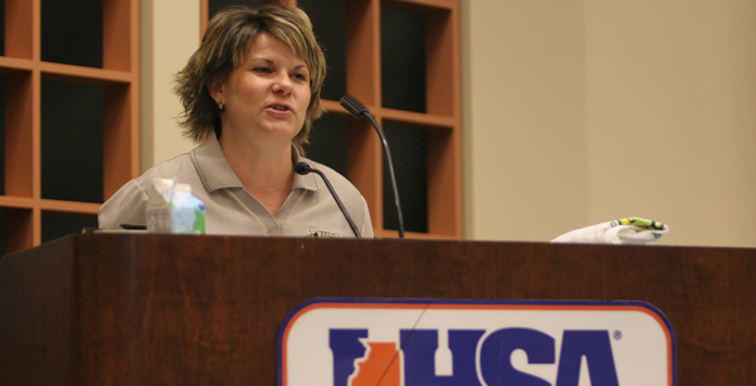 Former IHSA Administrator Susie Knoblauch Honored By IJEA