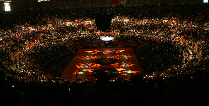 2015 IHSA Individual Wrestling State Final Grand Marshals