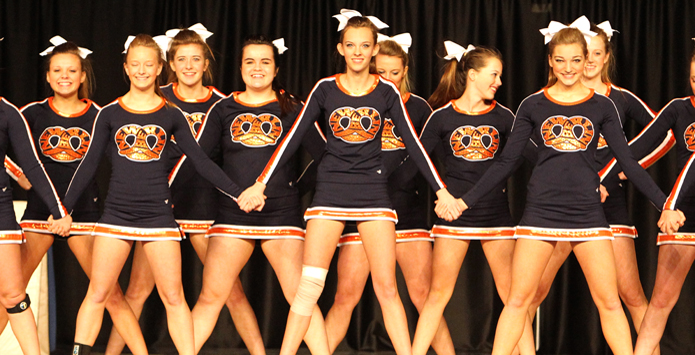 Cheerleaders Don't Miss A Beat When It Comes To Sportsmanship At IHSA State Finals