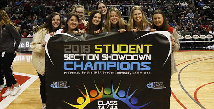 Mother McAuley Wins IHSA Class 3A/4A Student Section Showdown