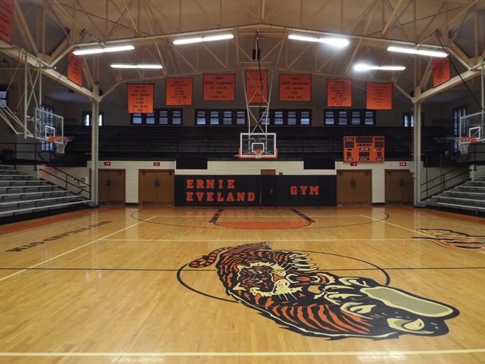 paris high schools ernie eveland gymnasium ihsa