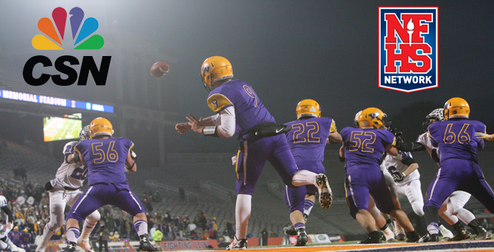 IHSA Football Semifinal Broadcasts on CSN Chicago & NFHS Network