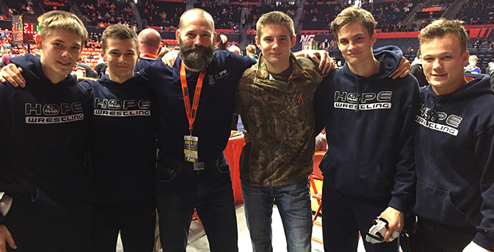 Hope Academy Makes IHSA State Wrestling A Family Affair