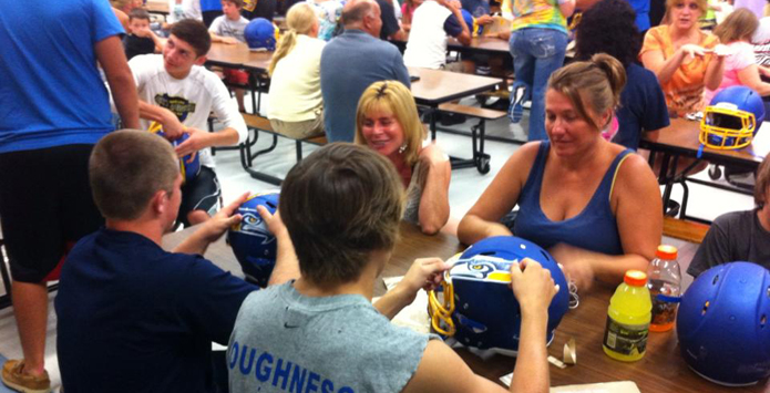Johnsburg Moms Tackle Football Helmet Decals