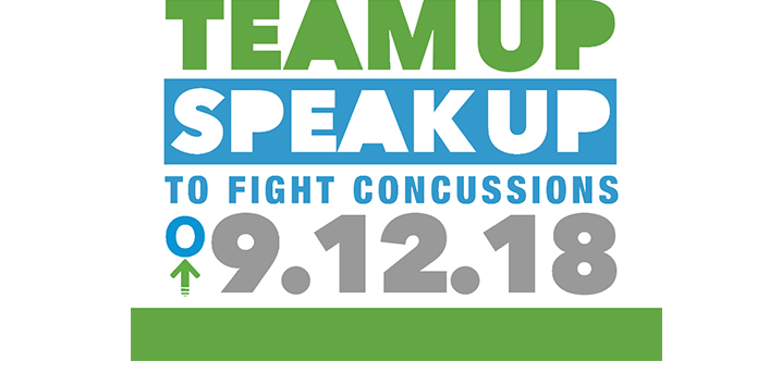 "IHSA Proud to Support ""Team Up Speak Up To Fight Concussions"" on September 12"