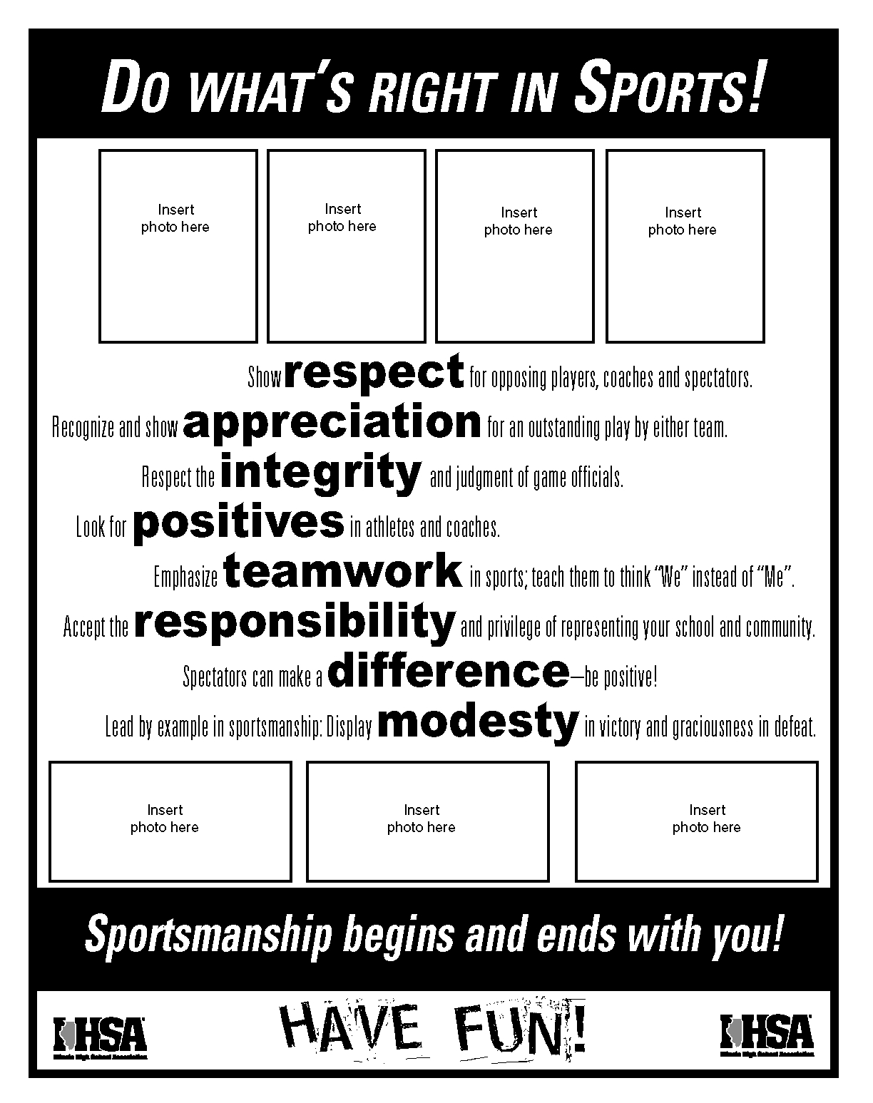 Do what 39 s right sportsmanship resources ihsa for Sports program template free