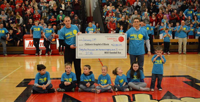 "Morton High School's ""Gameball Run"" Program Raises Over $62K For Children's Hospital of Illinois"
