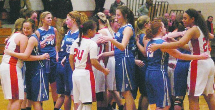 Compassion Shown in Face of Tragedy During Girls Basketball Contest Betwenen Kewanee & Princeton