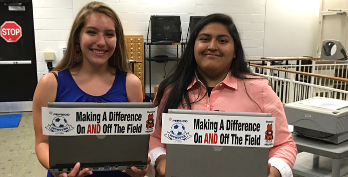 Romeoville Girls Soccer Players Olivia De La Rosa & Betsy Ramirez Honored For Making A Difference On & Off The Field