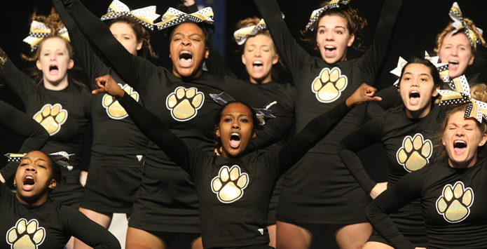 Richards Cheer Squad Has Touching Gesture For Neighboring School