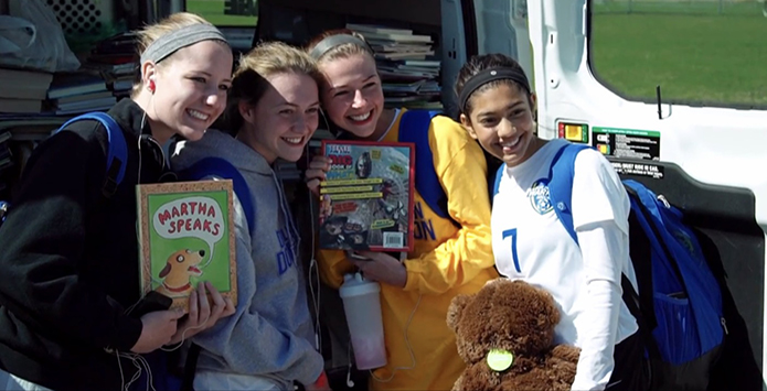 IHSA Girls Soccer Programs Donate Over 7,000 Books To CPS Schools