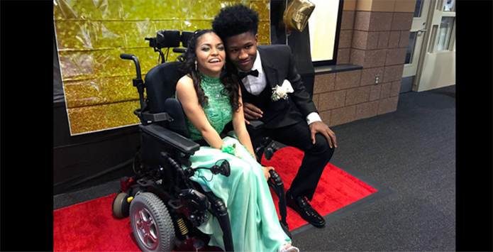 Oswego East Football Standout Tahj Oliver & Prom Date Evelyn Araujo Make National News