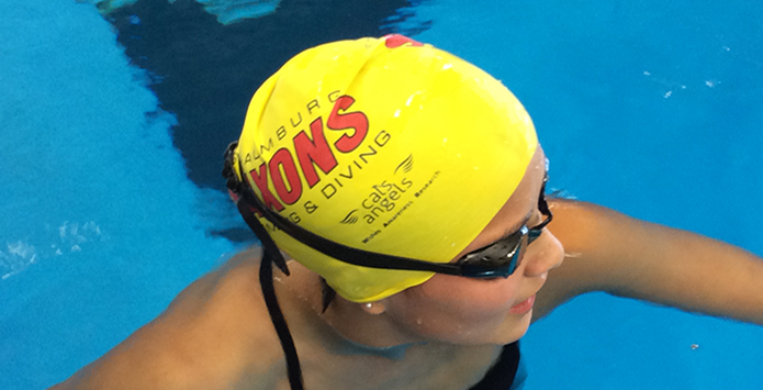 Schaumburg Swimming & Diving Team Represents Pediatric Cancer Organization In The Pool