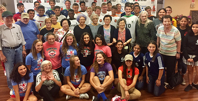 IHSA Soccer Players Give Back On National Senior Citizens Day