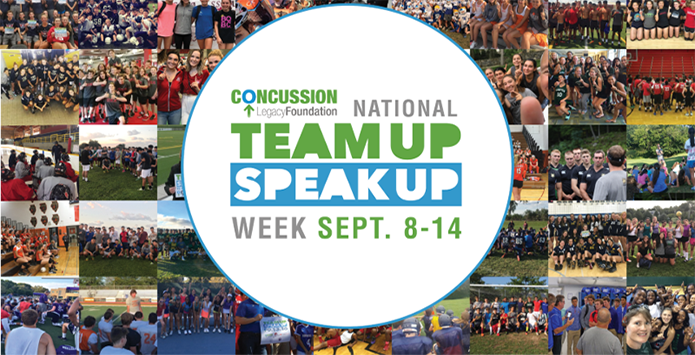 "IHSA Proud to Support ""Team Up Speak Up"" Concussion Awareness Week September 8-14"