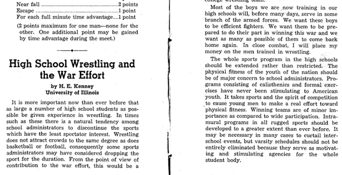 The 1944 Unofficial Wrestling State Tournament