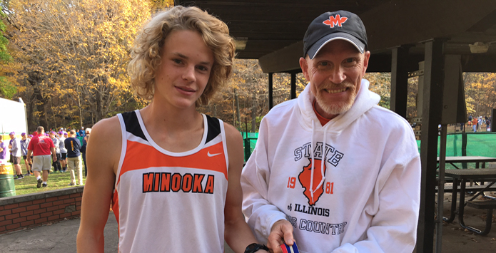 Knudsen Father-Son Combo Make History At IHSA State XC