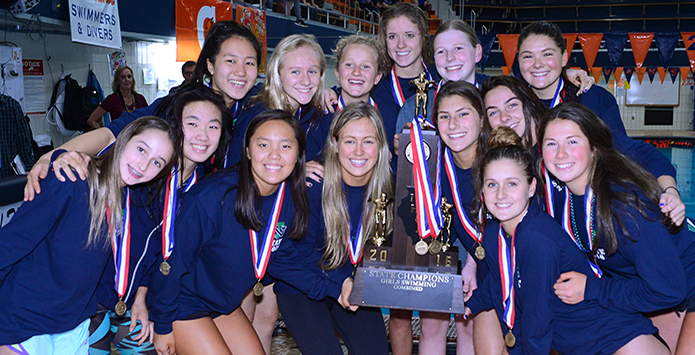 New Trier Takes Home First Girls Swimming Combined State Title in IHSA History