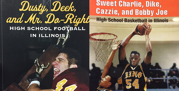 IHSA Store Now Carrying Two Classic Taylor Bell Books on IHSA Basketball & Football History