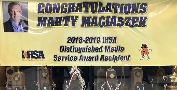 2018-19 IHSA Distinguished Media Service Award – Marty Maciaszek