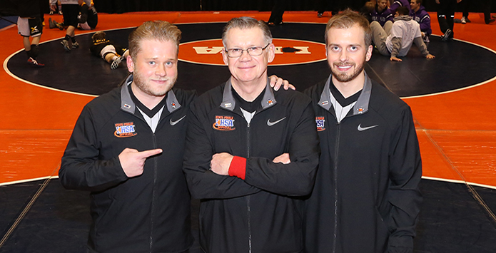 Mekeel Family Makes More History, Father Don Is Joined By Sons Ryan & Chris In Officiating IHSA State DT Wrestling