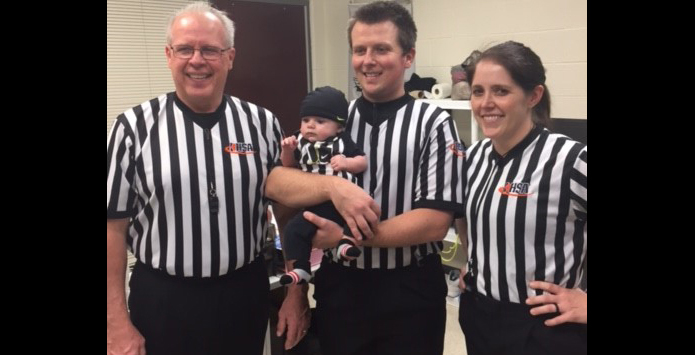 Officiating Family: Chuck Rathert Works IHSA Basketball Game With Daughter & Son
