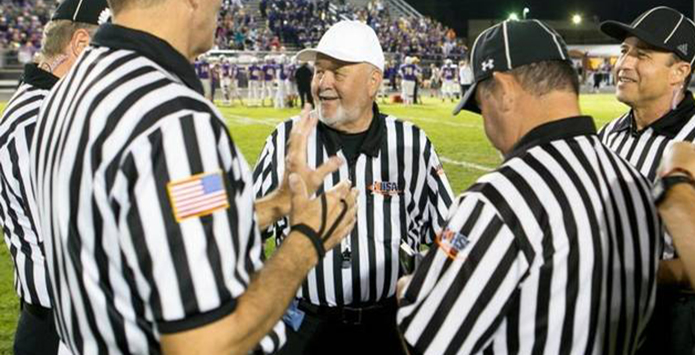 Rich Herndon Completes 55-Year IHSA Football Officiating Career