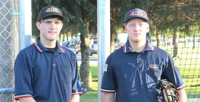 Okaw Valley Students Shift from Teammates to Umpiring Tandem on the Baseball Diamond