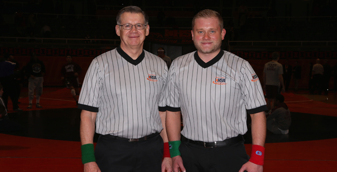 Mekeel's Reflect on Becoming First Father-Son Tandem to Officiate IHSA Wrestling State Finals