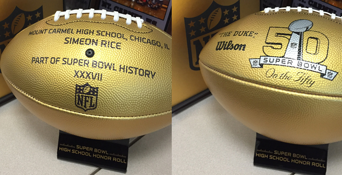 NFL & Wilson Sporting Goods Honor Super Bowl Alums From Illinois High Schools